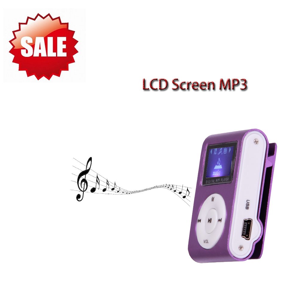 3 PCS Wholesale Unique Mini USB Clip MP3 Media Player LCD Screen Support 16GB Micro SD TF LED Light Metal Case MP3 Player(China (Mainland))
