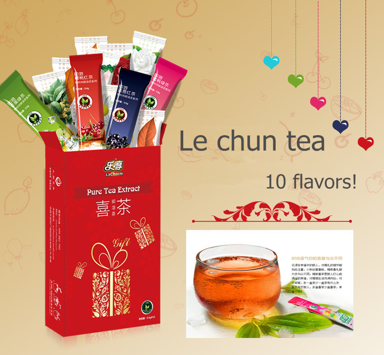 Lacharm10 flavors Chinese puer tea fruit tea 10 pcs/box brand puer tea Jasmine Peach Apple green perfumes and fragrance organic<br><br>Aliexpress