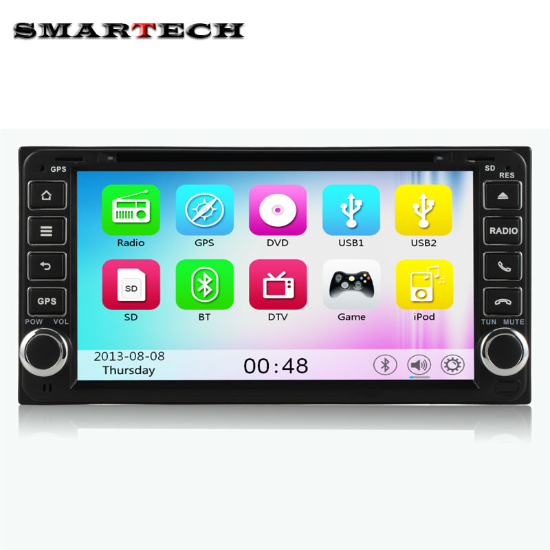 2 din 6.95 inch car stereo radio for Toyota Camry Corolla HILUX Prado RAV4 Terios Head unit car DVD player gps navigation(China (Mainland))