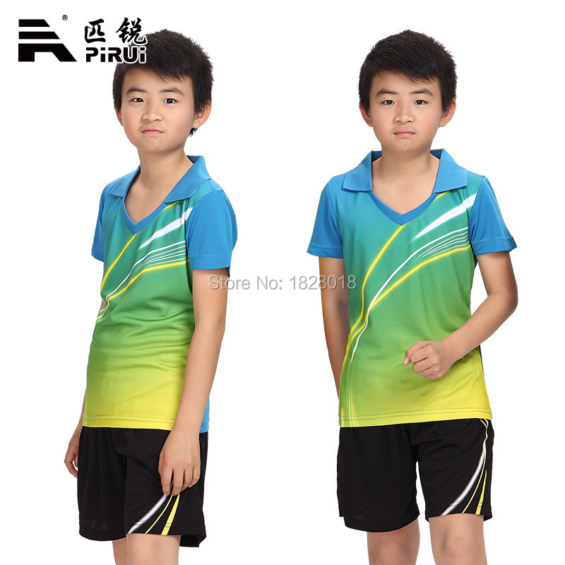 Fashion trend Family fitted Badminton Set Shirt Children's Table Tennis Clothing Tennis Jerseys Shorts Sport Suit Free shipping(China (Mainland))
