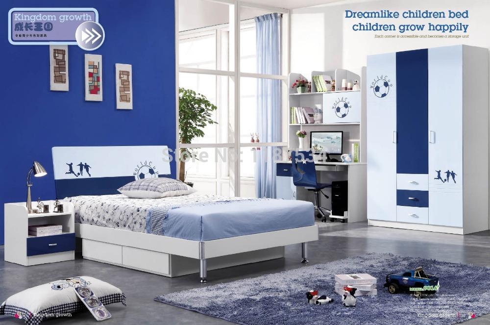 9016 Children wardrobe bed nightstand desk chair bedroom furniture set wooden children home furniture(China (Mainland))