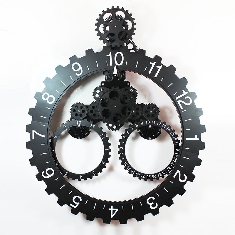 1 pc 4 couleur 25 polegada design moderne grand engrenage for Horloge design pour salon