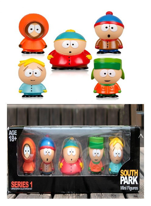 retail cute pvc south park figure 5 pcs set mini display action figure toys doll with box in. Black Bedroom Furniture Sets. Home Design Ideas