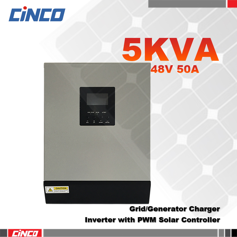 5KVA 48V 50A Hybrid inverter with PWM Solar charge controller and grid charger 4Kw power inverter connected battery for home use(China (Mainland))