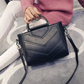 LEFTSIDE New Vintage Black PU Women Leather Handbags Designer Women Messenger Bags Crossbody Shoulder Bag hand