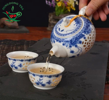 3pcs Tea Service Ceramic Tea pot Sets Handpainted Kitchen Dining Bar TeaCup ChineseTravel Tea Set TeaPot