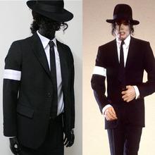 Rare MJ Michael Jackson Black Dangerous Bad Suit Skinny Blazers Outerwear Full Set For Fans Gift(China (Mainland))