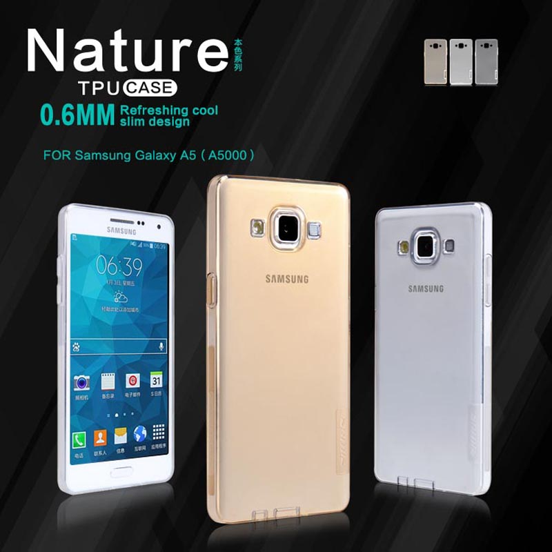 10pcs For Samsung Galaxy A5 A500 A500F NILLKIN TPU soft case phone cases Nature Series Luxury back protective cover + package