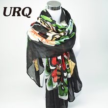 Brand Designer 2016 Luxurious Butterfly Scarf Woman Long Twill Cotton Big Scarves Shawl X9A18436(China (Mainland))