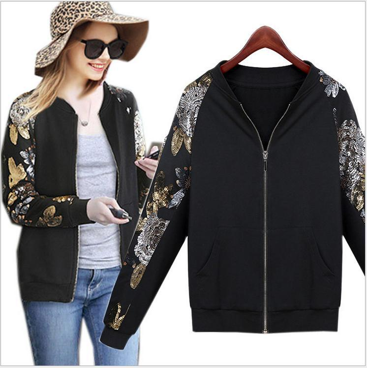Express Clothing Jackets Woman Clothes Baseball Jacket