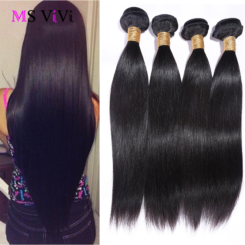 Grade 6A Brazilian Virgin Hair Straight 4 Bundles,Unprocessed Virgin Brazilian Straight Hair Weave,Cheap Virgin Human Hair Weave