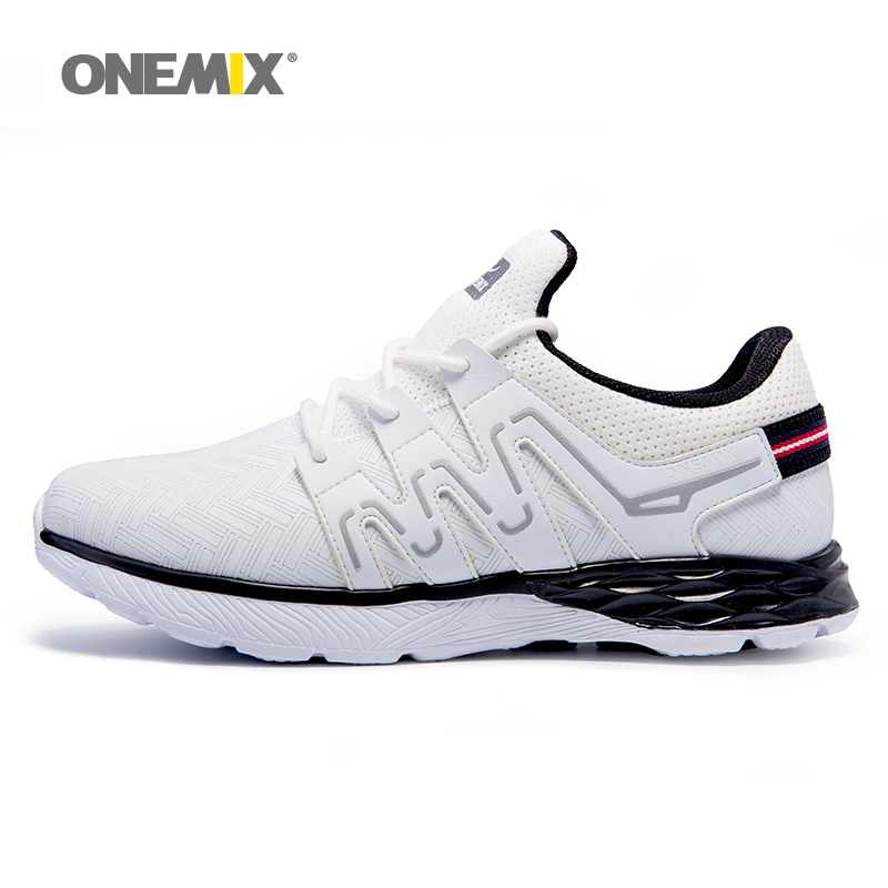 ONEMIX Autumn Winter Men's Sport Sneakers Outdoor Running Shoes Male Leather Upper Athletic Shoes Warm Thicken zapatos de hombre(China (Mainland))