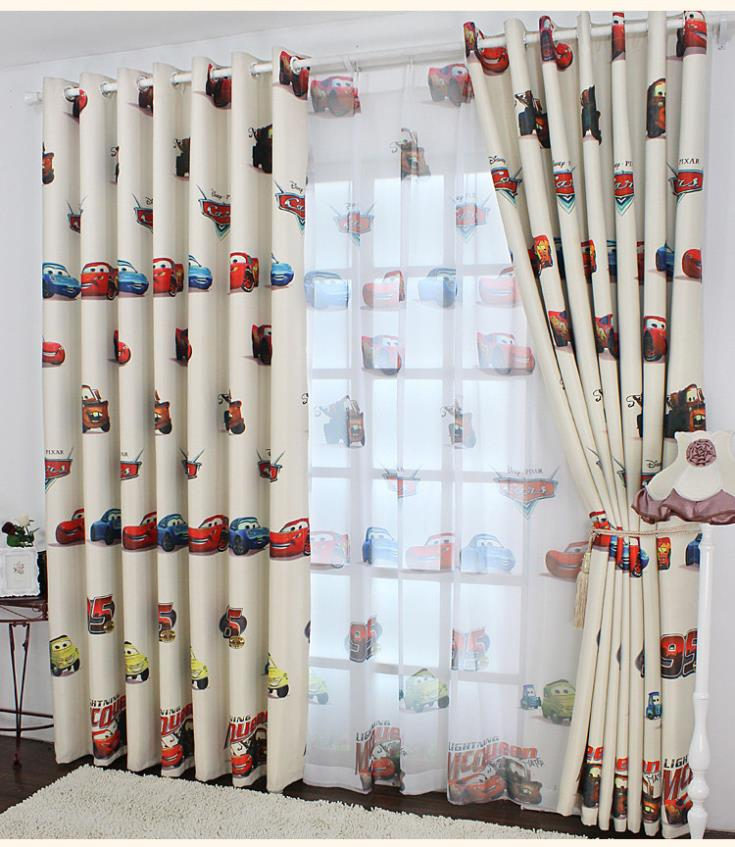 Home design children 39 s curtains shading cloth cartoon cars for Fabrics for children s rooms