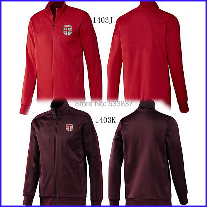 New England Jacket Men 2015 Red Top Quality 14 15 Sport Football Jackets For Men Soccer Training Coat Free Shipping(China (Mainland))