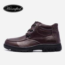 Buy Size 37~50 men winter shoes cow split leather plus size Handmade men winter snow boots #5626 for $48.60 in AliExpress store