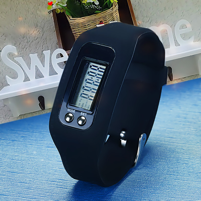 Simple Smart Watch Unisex Calorie LCD Pedometer Sports Runing Wristband Fashion Passometer Smart Hour Distance Casual Clock Time(China (Mainland))