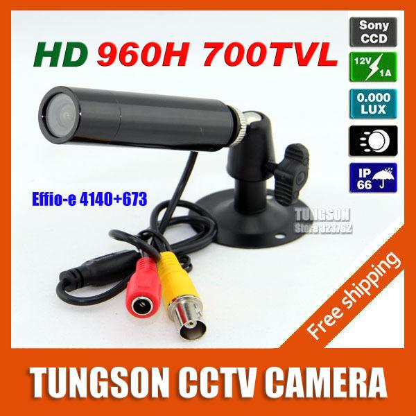Top Seller Big Discount HD Sony 960H Effio 700TVL Waterproof Micro Video Surveillance Small Bullet Mini Security CCTV Camera(China (Mainland))