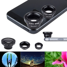 New 3 in 1 Magnetic Fish Eye Lens Wide Angle Lens Macro Mobile Phone Lens For iPhone 6 6 Plus 5S 5C Samsung Galaxy S2 S3 S4 S5(China (Mainland))