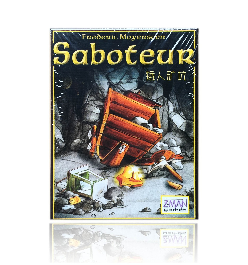 English Saboteur card game, board game playing cards saboteur 1, 2 expansion 1+2 optional, english rules in package wholesale(China (Mainland))