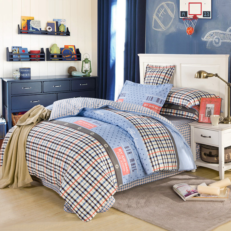 style queen size printed bed sheet set quilt cover set bedding set