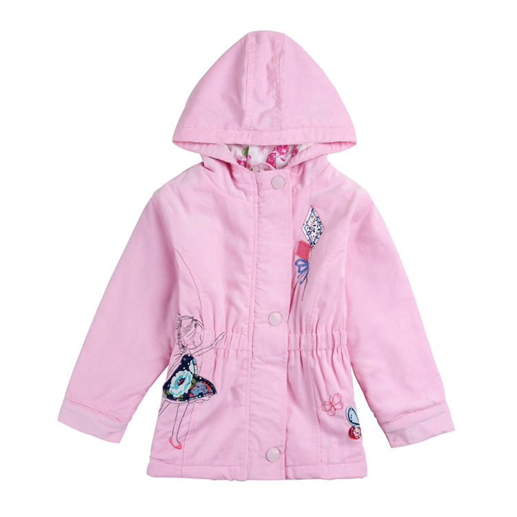 Гаджет  children girls outwear nova brand kids clothes embroider cartoon casual autumn/winter 100% cotton coat for baby girls F5250 None Детские товары