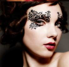 Sexy Face Lace Eye Artistic shadow sticker Reusable makeup club party no harm cosmetics face mask eye temporary tattoo(China (Mainland))