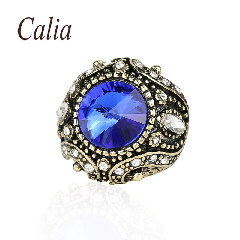 India Sapphire Ruby Turquoise Jewelry Rings For Women 14K Gold Plated White Perfect Vintage Best Gift For Friends Fine Jewelry(China (Mainland))