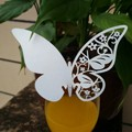 Favor Mini 20Pcs 9 8X5 8Cm 3D Butterfly Place Cards Glass Laser Cut Wedding Party Card