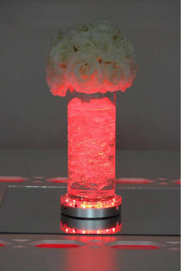 Free shipping inch remote controlled led vase lights
