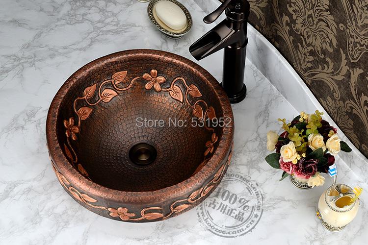 Free Shipping Fashion wash basin, Bronze Basin, Handmade Copper Sink,Antique Bronze Basin,Brass Countertop Basin, Wholesale<br><br>Aliexpress