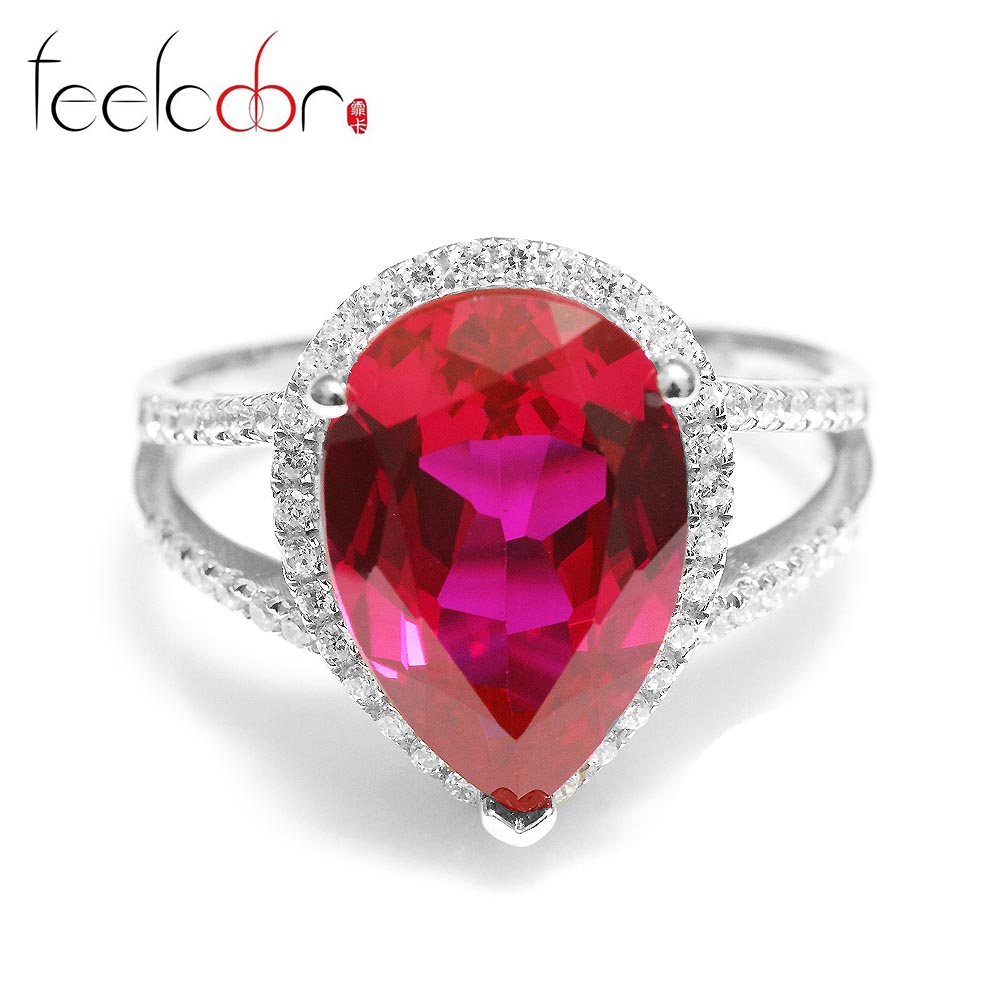 5.7ct Pigeon Blood Red Ruby Ring Genuine 925 Solid Sterling Silver Brand New Women Fashionable Wedding Fine Jewelry - Jewelrypalace Gemstones store