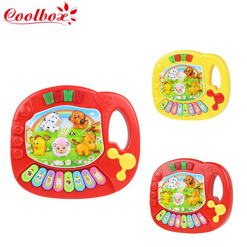 New Hot Baby Kids Musical Educational Animal Farm Piano Developmental Music Toy/Music Toy keyboard piano toy/Baby's Xmas Gift(China (Mainland))