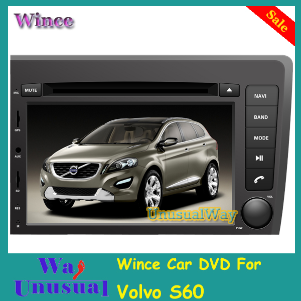 Free Shipping 2015 Top Wince Car Multimedia System DVD Player Radio For Volvo S60/V70 2001-2004 With GPS Navigation BT Free Map(China (Mainland))
