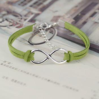 Hand-woven Infinity Charm Bracelet