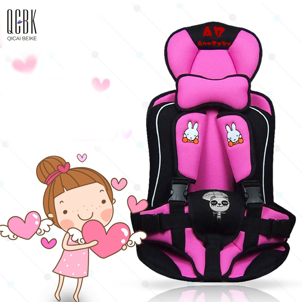 Portable Child Car Safety Seats Five-Pionts Children's Chairs Updated Version Cotton Baby Car Seat Four Colors Siege Auto Enfant(China (Mainland))