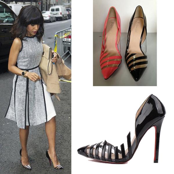 Women Big Size Pumps10  5 Inch Heels Red Bottom High Heels