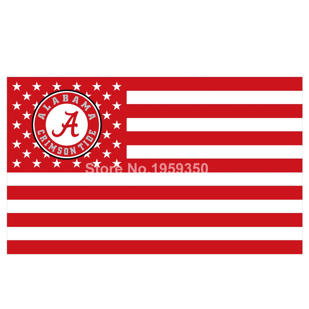 Alabama Crimson Tide Nation Flag 3ft x 5ft Polyester NCAA Alabama Crimson Tide(China (Mainland))