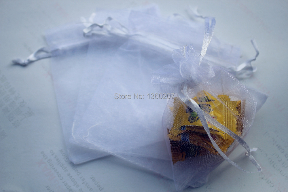 Wholesale 50pcs/lot 17x23cm snow white Organza bags jewelry Wedding Gift Pouches(China (Mainland))