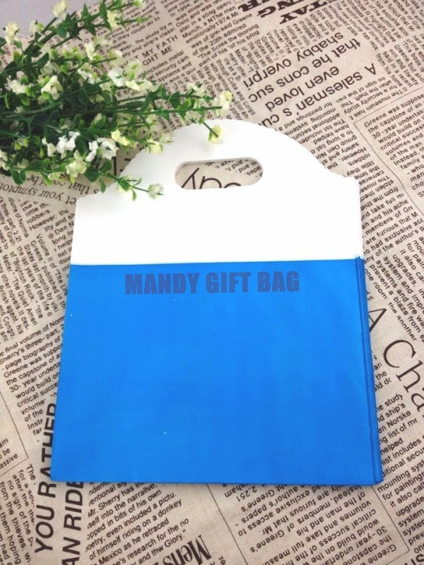 Newest Plastic Patchwork Fashion Shopping Bags,50pcs Blue Boutique Shopping Pouch For Jewelry/Candy/Gift/Clothes Packaging(China (Mainland))