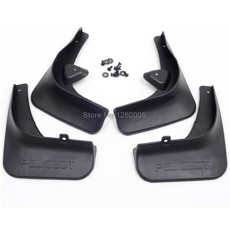 Fit For Peugeot 408 Mud Flaps Splash Guards Cover Car Mudguards Dirt Guards Fenders Splash Flaps Mudflap(China (Mainland))