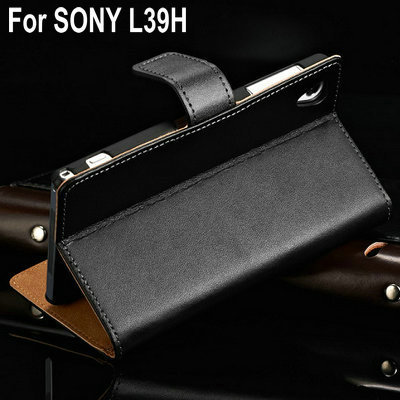 Luxury L39H Stand Wallet Leather Case For Sony-Ericsson Xperia Z1 L39H Phone Bag Cover Business Style with Bill Site 10 Pcs/Lot