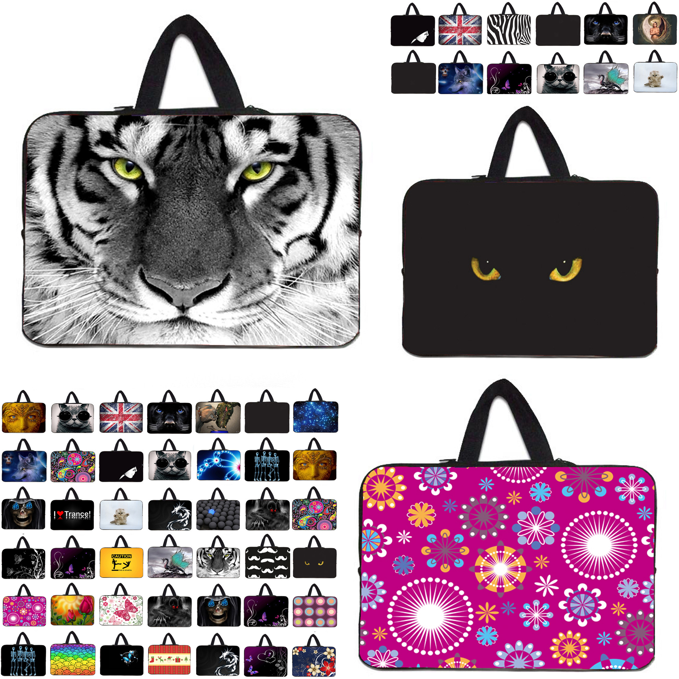 7 10 12 13 14 15 17 Neoprene Laptop Bag Netbook Sleeve Handle Pouch For Notebook Computer Bag 13.3 15.4 17.3 For Macbook Toshiba(China (Mainland))