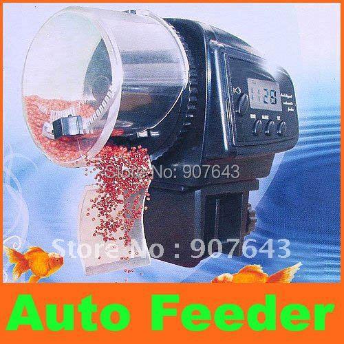 Digital Automatic Aquarium Fish Feeder Tank Food Auto Timer Aquarium pet fish feeder Gestante Aquario Para Peixes Decoration(China (Mainland))
