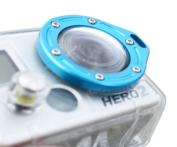 GoPro Fashion Colorful Aluminum Lanyard Ring Mount Acessorios For Go Pro Hero 2 Accessories Lens Kit Set GP43 Free shipping(China (Mainland))