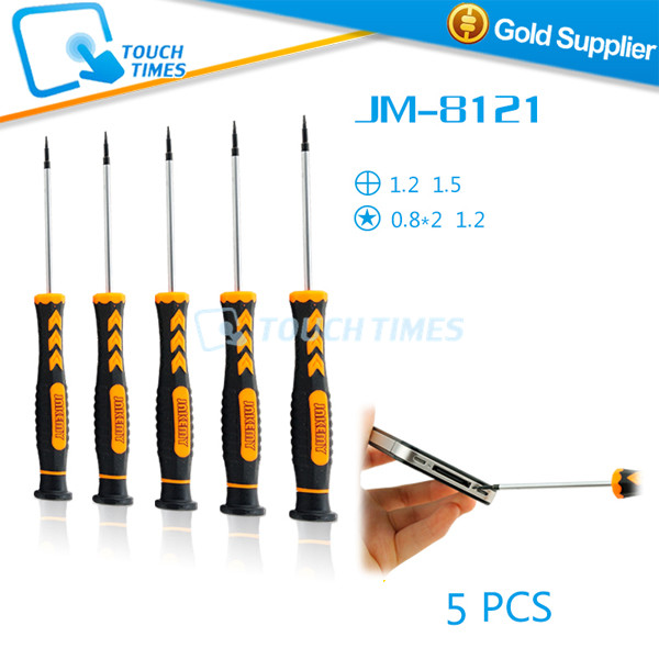 Jakemy JM-8121 5 in 1 pentacle phillips precision screwdriver set repair for iPhone iPad laptop smartphone(China (Mainland))