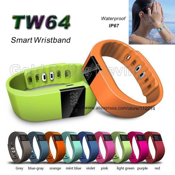 For Fitbit Smart Band Fitness Tracker Wristband TW64 Smartband Bluetooth Smartwatch Sports Bracelet for Android iOS