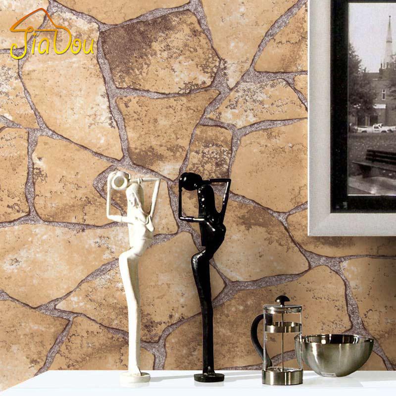 Buy Classic Vintage Mosaic Brick Stone Rock 3d Vinyl Wall Paper Living Room