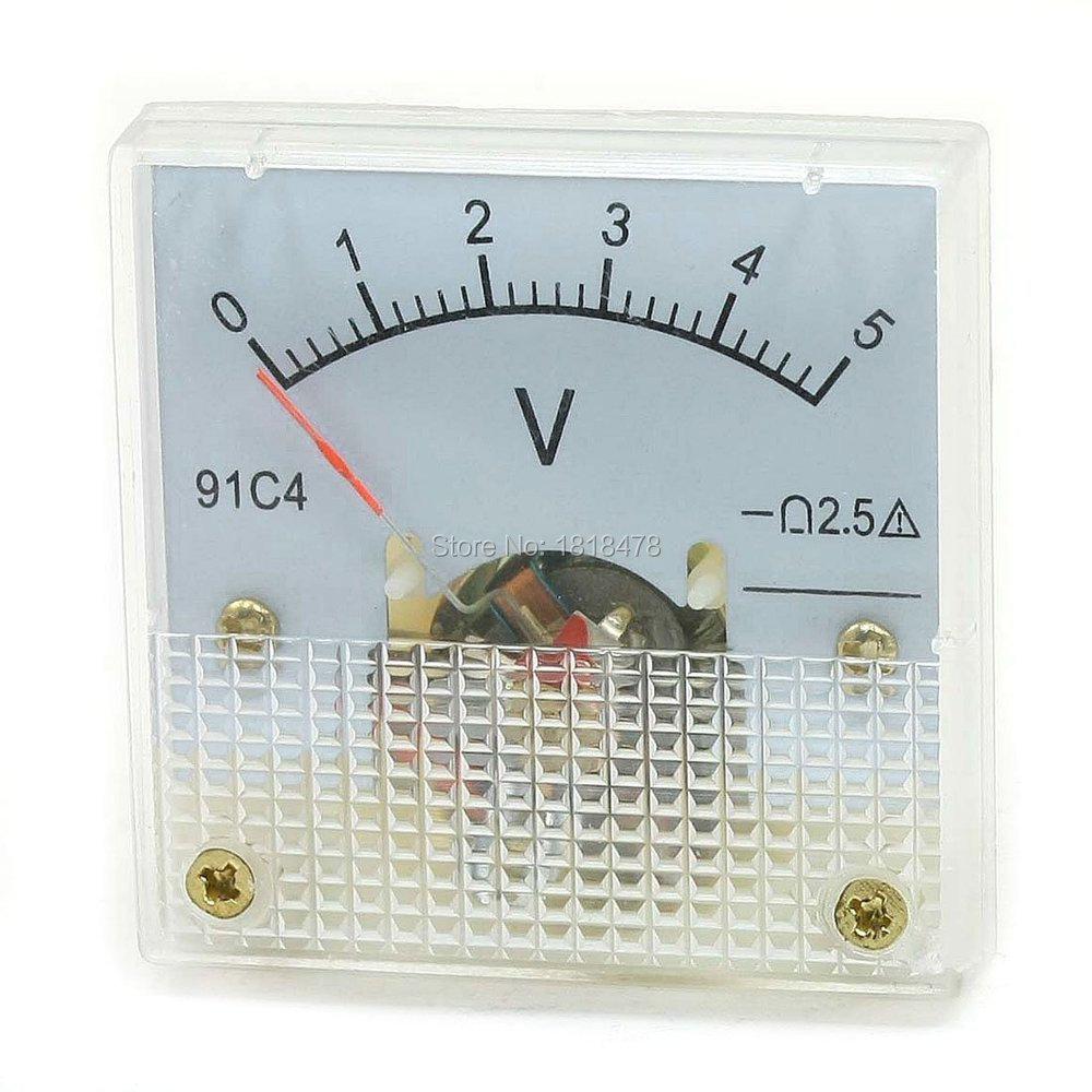 5 Volt Analog Meter : Aliexpress buy dc voltmeter v c analog