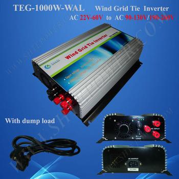 1000W on Grid Tie Wind Turbine Power Inverter AC 22V~60V to AC 190V~260V,Dump Load Controller,for 3 Phase Wind turbine