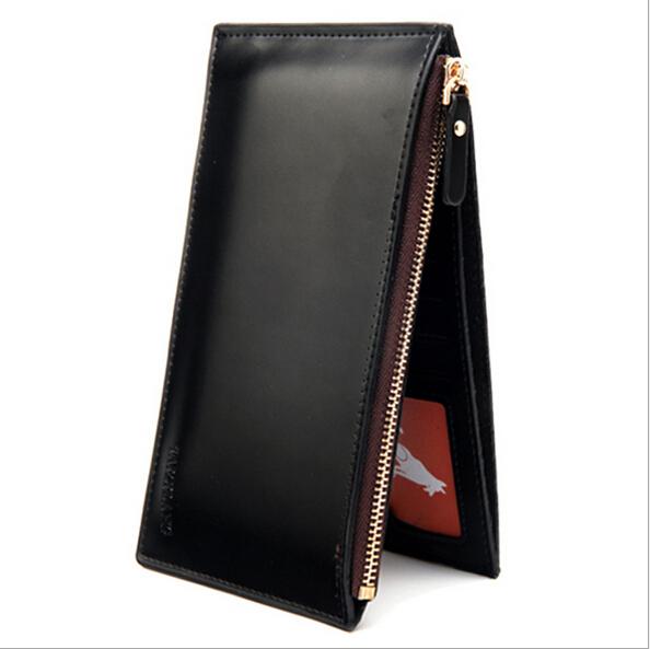 fashion large volume leather men wallets,trendy slim zipper money clip wallet men,mens - Friend World store